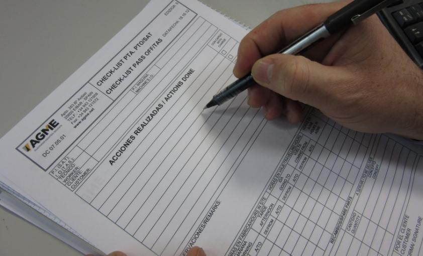 Checklist de validación Agme