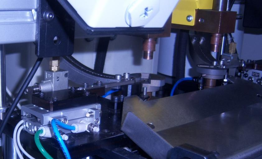 detalle electrodo soldadura