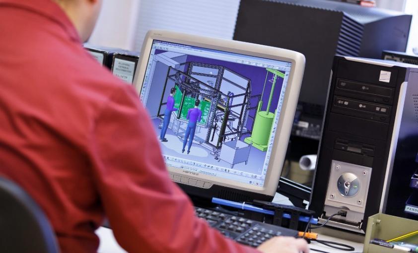 Ingeniería mecánica (detalle ordenador)