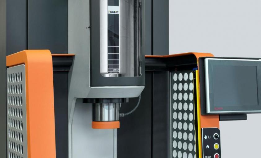 Prensa eléctrica AGME PE50, detalle