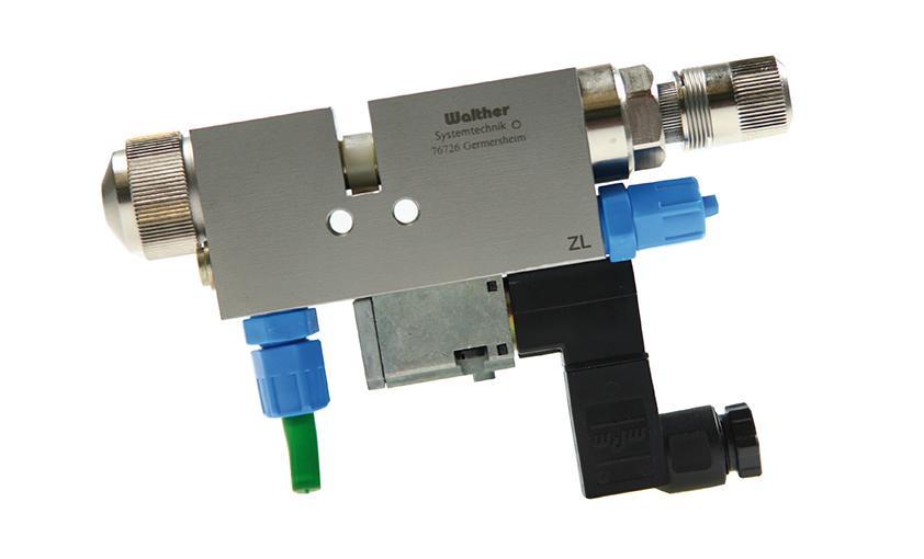 Válvula de pulverización de grasa Walther