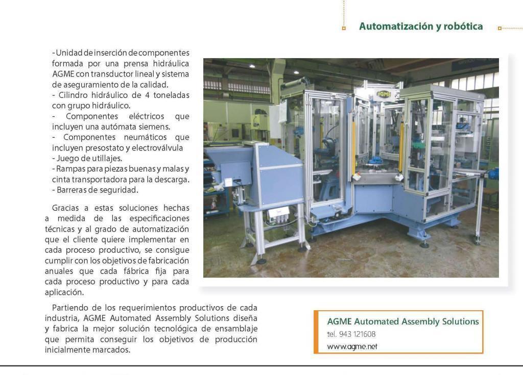 Revista Tope: Máquinas automáticas que cumplen eficazmente con los objetivos de producción 2
